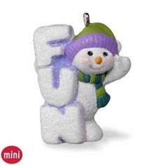 A Little Frosty Fun Mini Snowman Ornament,  2016
