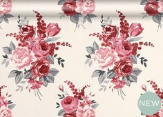 Chiswick Floral wallpaper from Laura Ashley Quintessential Laura Ashley comes to town with this classic blooms pattern, brought up to date with a bold colourway. Chiswick Floral wallpaper in Cranberry, per roll, Laura Ashley Laura Ashley Paint, Laura Ashley Living Room, Laura Ashley Interiors, Bedroom Wallpaper Nature, Bedroom Wallpaper Laura Ashley, Cottage Wallpaper, Red Wallpaper, Fabric Wallpaper, Peacock Wallpaper