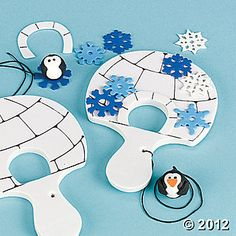 Help the penguin find his way inside the igloo! 5 All craft kit pieces are pre-packaged for individual use. Vbs Crafts, Preschool Crafts, Winter Crafts For Kids, Diy For Kids, Operation Arctic, Penguins And Polar Bears, Polo Norte, Polar Animals, Winter Activities