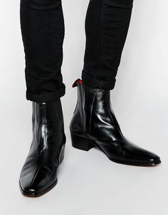 Image 1 ofJeffery West Leather Chelsea Boots