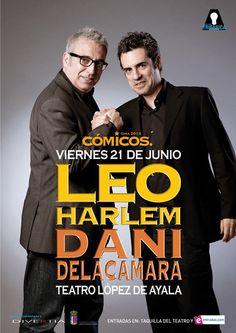 """Cómicos, con Leo Harlem y Dani de la Cámara, para la noche del viernes en """"el López"""""""