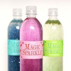 These calming bottles full of sparkles are fun for toddlers and super easy to make by hand.