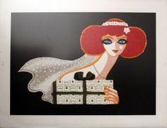 Christofle Liste de Mariage Villemot, 1980s - original vintage poster by Bernard Villemot listed on AntikBar.co.uk