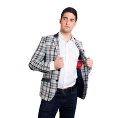 Elie Balleh Milano Italy Men's 2015 Style Slim Fit Jacket/Blazer