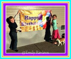 Banner Buzz ~ Happy Birthday Banner Review & Giveaway (US) 3/31 | Emily Reviews