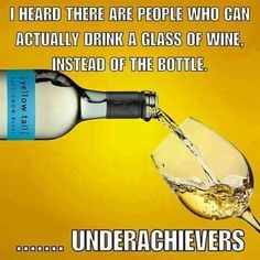 Glass of wine...