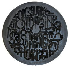 Back in 5 Minutes Typography Exhibition by Clement  de Bruin, via Behance