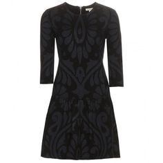 Burberry Brit Karin Silk and Cashmere-Blend Dress (865 CHF) ❤ liked on Polyvore featuring dresses, black, black dress, burberry, black silk dress, kohl dresses et silk dress