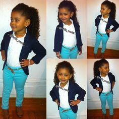 Seriously I would wear this outfit that this little girl is wearing