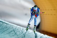 Kaisa Makarainen of Finland in action during the IBU Biathlon World Cup Women's Sprint on December 16, 2016 in Nove Mesto na Morave, Czech Republic.