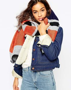 Discover the range of women's accessories at ASOS. Shop from hosiery, gloves, scarves, hats and belts with ASOS. Ladylike Style, Oversized Scarf, Orange, Scarf Styles, Winter Collection, Hosiery, Winter Fashion, Women Wear, How To Wear