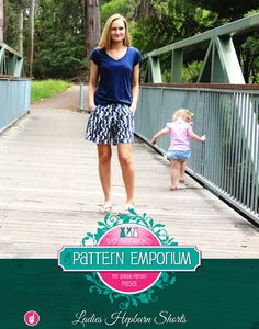 This is a pdf sewing pattern to make a pair of Women's Shorts with a pleated front, pockets. Choose from pull-on elastic waist or a semi-tailor...