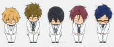 Are they trying to touch their toes? Free Characters, Chibi Characters, Anime Rules, Free Eternal Summer, Splash Free, Free Iwatobi Swim Club, Kaichou Wa Maid Sama, Handsome Anime Guys, Anime Stickers