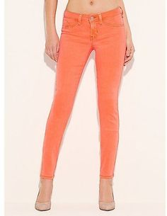 ShopStyle: Brittney Ankle Skinny Jeans - Neon Colors