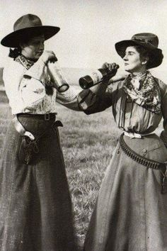 Women in the Wild West. (late 1890s/early 1900s)