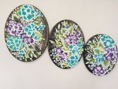 One Stroke Florals on Oval Canvas - YouTube