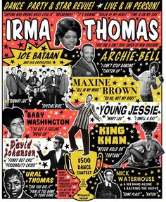 Irma Thomas, King Khan, Archie Bell, Nick Waterhouse & more playing Jonathan Toubin's Soul Clap Anniversary Rock Posters, Band Posters, Event Posters, Irma Thomas, Concert Signs, Vintage Concert Posters, Soul Singers, Old Shows, Soul Music
