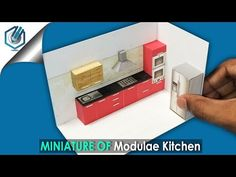 (4) DIY miniature modular kitchen interior - YouTube