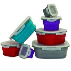 Collapsible 14 Piece Food Storage Set