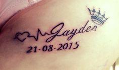 My new tattoo! #Jayden#mylittleprince#infinityink