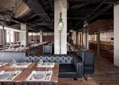Mercato restaurant at Three on the Bund in Shanghai by Neri&Hu