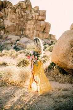 Boho engagement shoot in Joshua Tree | Wedding & Party Ideas | 100 Layer Cake