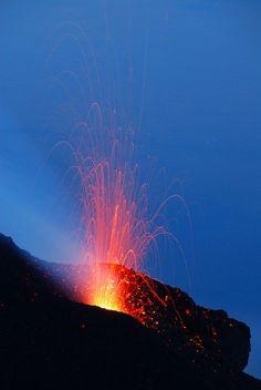 #Stromboli #Aeolian Islands  has been in almost one continuous eruption for the past 20,000 years. Explosions occur at the summit craters with mild to moderate...