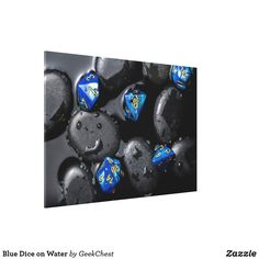 Blue Dice on Water Canvas Print