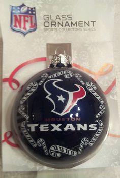 "Houston Texans NFL Football 2 5/8"" Traditional Bulb Christmas Tree Ornament blue #Topperscot #HoustonTexans"