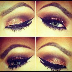Do you like this decent eye makeup idea?