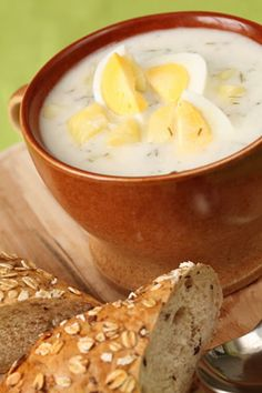 This creamy mushroom and potato soup is typical in the Czech Republic, although there are numerous recipes for it. This thick white broth is made with cream, potatoes, mushrooms and dill, and it is really warming and delicious. You will need dried mushrooms for this, and you can either buy them or dry your own.