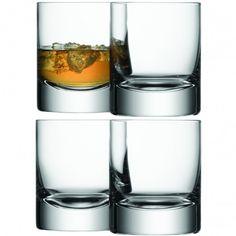 LSA International Bar Tumblers Set of 4 Glasses