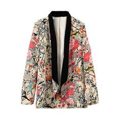 Contrast Trimming Buttonless Floral Print Blazer.Floral blazer, featuring buttonless and sleeve styling, contrast trimming, floral print, loose fit, soft-touch fabric. Going with a basic vest, leggings or denim shorts and leisurely shoes would make you look cool. - See more at: http://pariscoming.com/en-contrast-trimming-buttonless-floral-print-blazer-p149210.htm#sthash.GqUH6dbq.dpuf