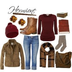 cute outfits for middle school in winter based on harry potter characters… Harry Potter Kostüm, Harry Potter Cosplay, Harry Potter Outfits, Harry Potter Fashion, Hermione Granger Costume, Look Casual, Casual Chic, Disney Outfits, Cute Outfits