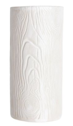 White Woodgrain Vase