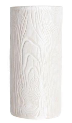 White Woodgrain Vase