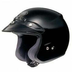 Shoei RJ Platinum-R Open Face Helmet in Black