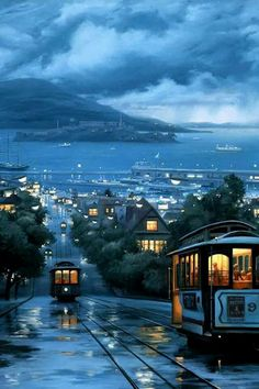 Cable Cars of San Francisco City Aesthetic, Travel Aesthetic, Beautiful World, Beautiful Places, Beautiful Pictures, Places Around The World, Around The Worlds, Scenery Wallpaper, Iphone Wallpaper Rain