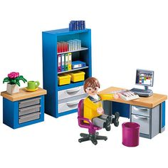 Playmobil Family Home Playset: The Home Office - Playmobil Toys R Us, Kids Toys, Playmobil Sets, Play Mobile, Lego Toys, Tiny World, Babies R Us, Heart For Kids, Childhood Toys