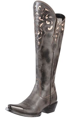 """Ariat Women's 15"""" Hacienda Western Boots - Old West Black $299.97. Starting a fund for these right now!"""