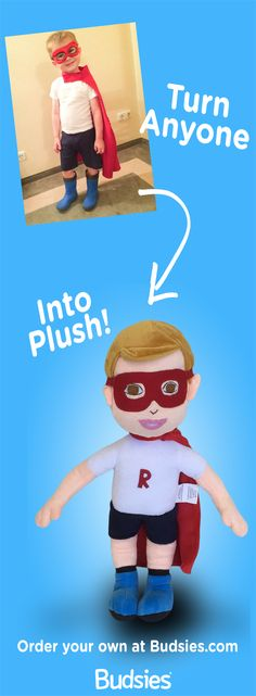 Cute gift idea - create a personalized custom plush doll for your favorite person. it's super easy and cheaper than an American Girl doll