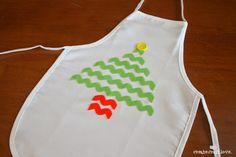 No Sew Christmas Kid's Apron