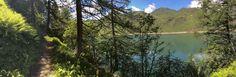 Lago Ritom + Trees panorama. July 9, 2016.
