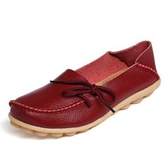 befcfb85d713ce WeiDeng Spring Women Genuine Leather Flat Gommino Moccasin Loafers Casual  Ladies Slip On Cow Driving Fashion Ballet Boat Shoes