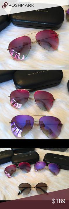 186dd1c49a9 Authentic 100% Color   watercolor red Original    425.00 Victoria Beckham Accessories  Sunglasses