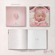 Diagramação de álbum de bebê para a fotógrafa Carol Correa.