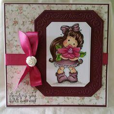 Birthday card using magnolia tilda image