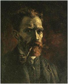 고흐의 자화상  빛에 의한 명암이 매우 명확히 표현된 작품으로, 인상파의 영향을 받은 작품이 아닐까 생각이 된다. 배경이 다른 작품들에 비해 매우 어둡고, 고흐 특유의 붓터치는 잘 드러나지 않는다.