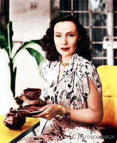 N.... Dolores Del Rio, 1947. Actriz de cine, Mexicana.