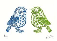 Sugar Skull Birds by José Pulido. I love his work.